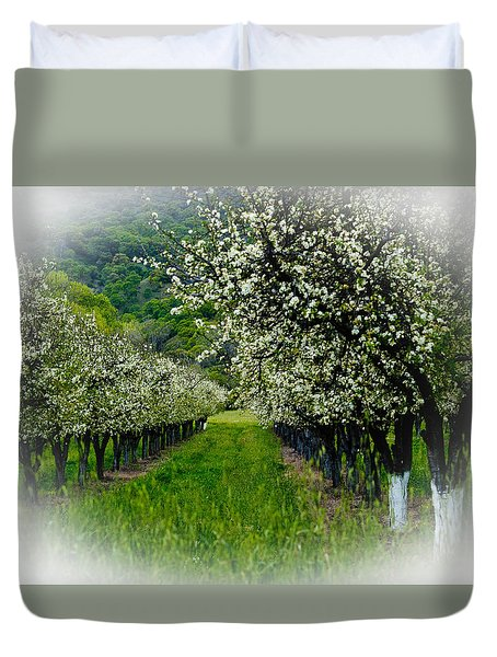 Springtime In The Orchard Duvet Cover by Bill Gallagher