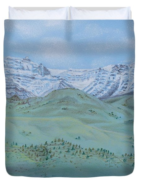 Springtime In The Rockies Duvet Cover