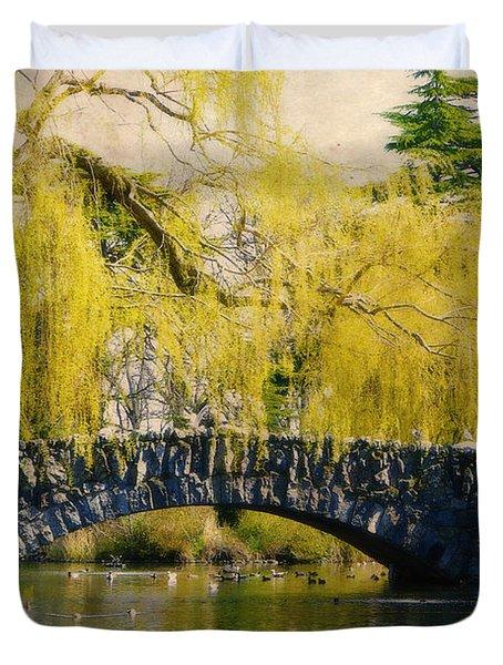 Springtime In Victoria Duvet Cover