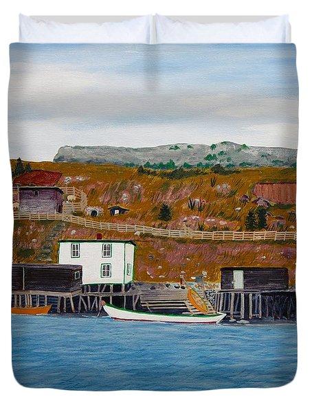 Springtime Long Ago  Duvet Cover by Barbara Griffin