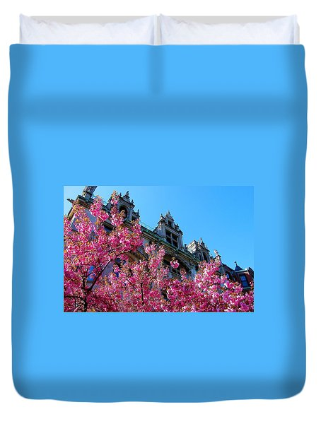 Springtime On Commonwealth Avenue Duvet Cover