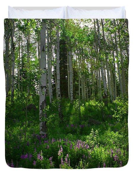 Springtime On The Grand Mesa Duvet Cover by Ernie Echols