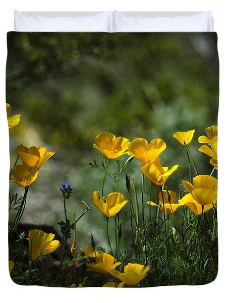 Springtime Poppies  Duvet Cover by Saija  Lehtonen