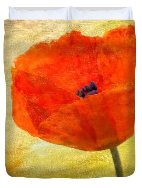 Springtime Poppy Beauty Duvet Cover