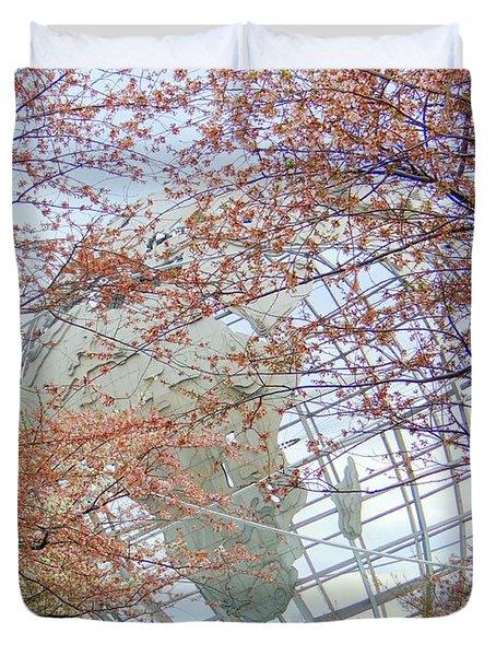 Springtime Round The World Duvet Cover by Ed Weidman