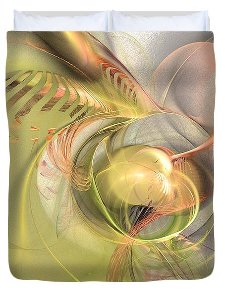 Sprouting Up - Abstract Art Duvet Cover