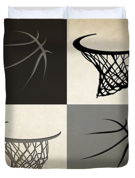 Spurs Ball And Hoop Duvet Cover