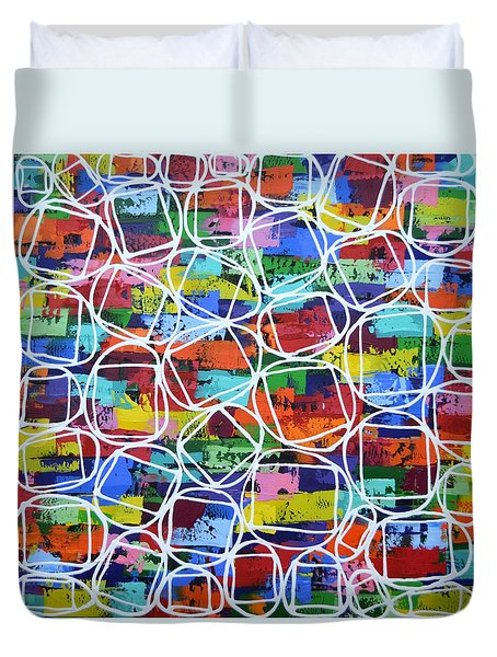 Square Peg Round Hole Duvet Cover