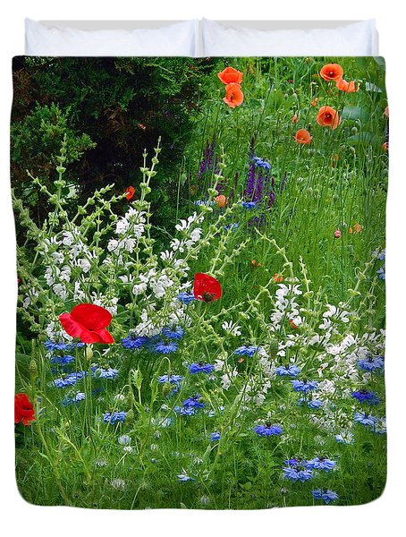 Squarely Spring Floral Garden Duvet Cover