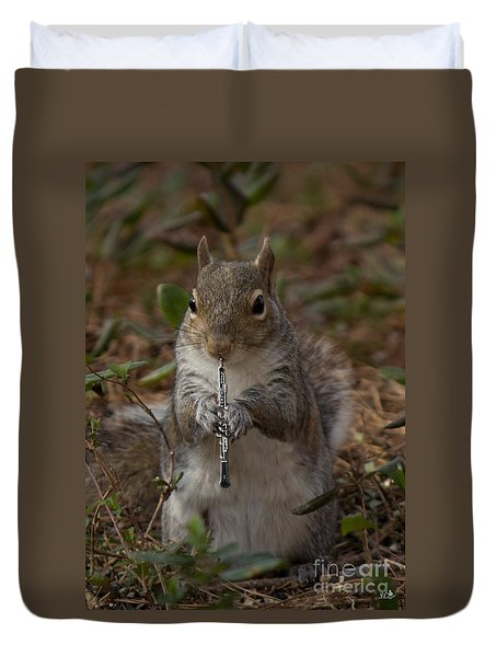 Squirrel With His Obo Duvet Cover
