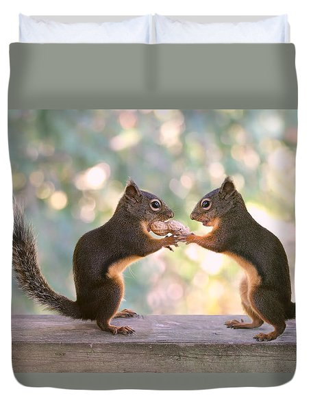 Squirrels That Share Duvet Cover