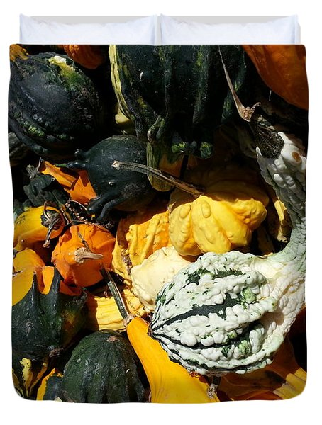 Duvet Cover featuring the photograph Squish Squash by Caryl J Bohn