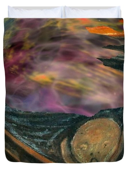 Sreaming To The End Duvet Cover by John Malone