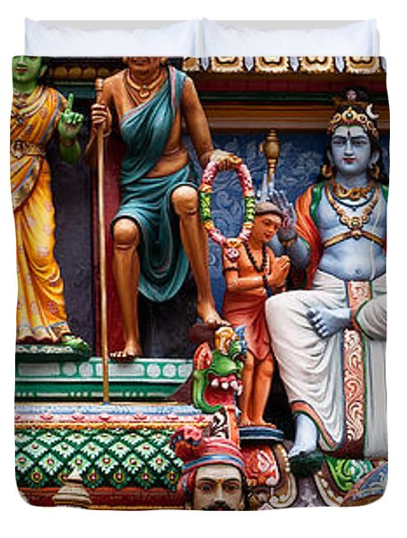 Sri Mariamman Temple 03 Duvet Cover by Rick Piper Photography