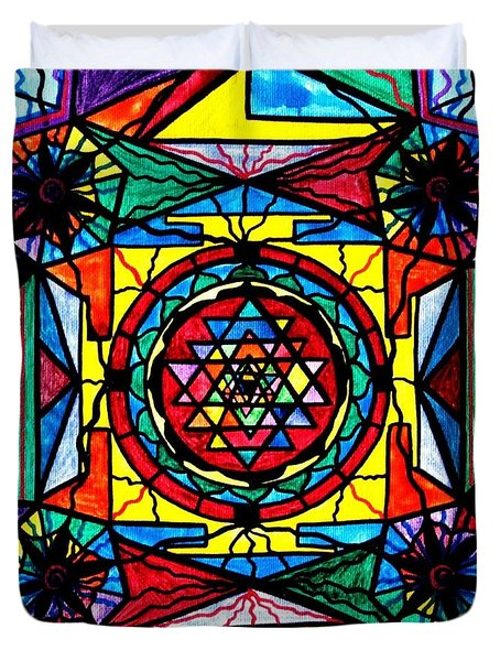 Sri Yantra Duvet Cover by Teal Eye  Print Store