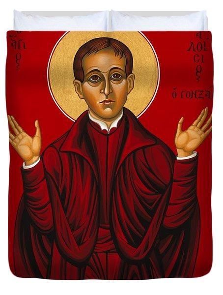 St. Aloysius In The Fire Of Prayer 020 Duvet Cover