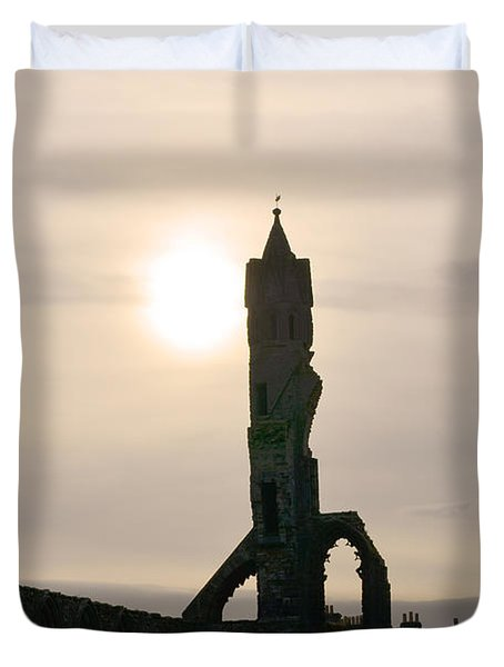 St Andrews Scotland At Dusk Duvet Cover