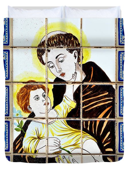 St Anthony Of Padua Duvet Cover by Christine Till