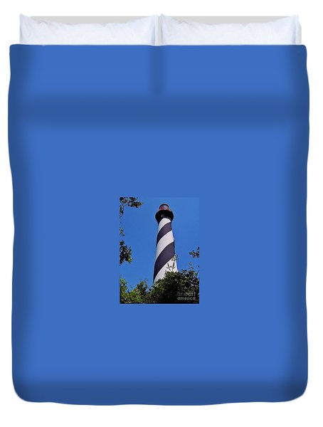 St Augustine Lighthouse Duvet Cover by D Hackett