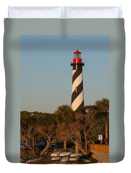 Duvet Cover featuring the photograph St. Augustine Lighthouse by Paul Rebmann
