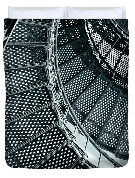 St Augustine Lighthouse Staircase Duvet Cover by Christine Till
