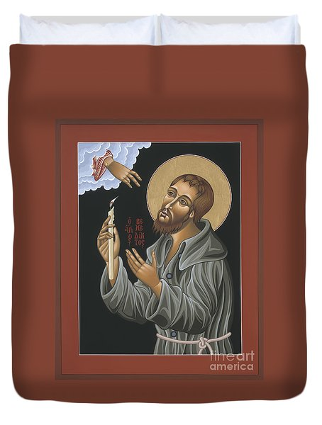 Duvet Cover featuring the painting St. Benedict Joseph Labre 062 by William Hart McNichols