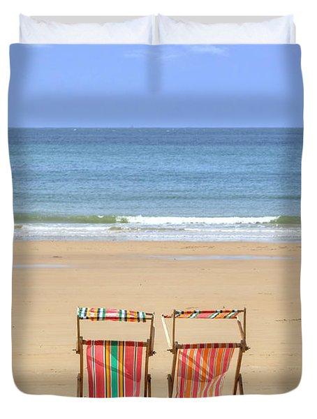 St Brelade's Bay - Jersey Duvet Cover by Joana Kruse