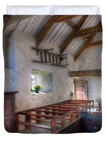 St Celynnin Interior Duvet Cover by Adrian Evans