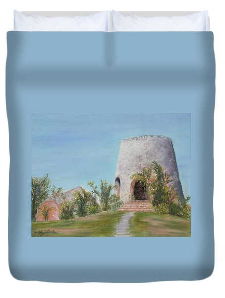 St. Croix Sugar Mill Duvet Cover