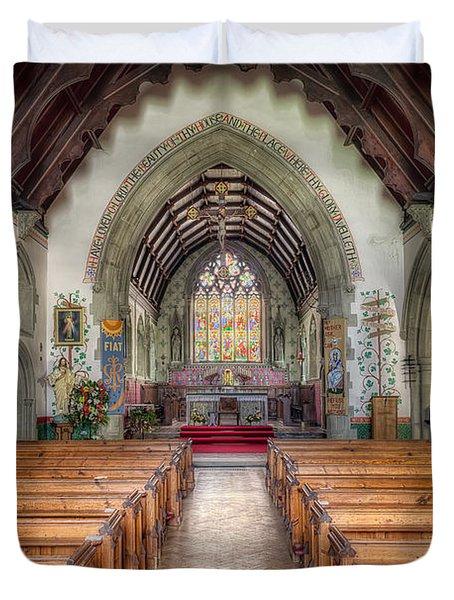 St Davids Church Duvet Cover by Adrian Evans