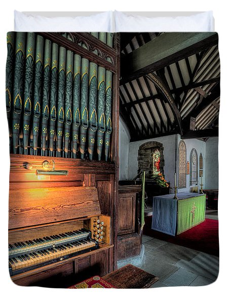 St Digains Church Duvet Cover by Adrian Evans