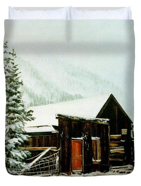 Duvet Cover featuring the painting St Elmo Snow by Craig T Burgwardt