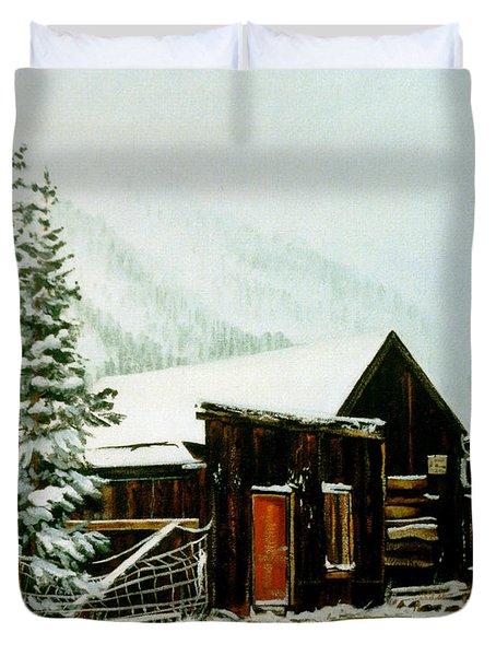 St Elmo Snow Duvet Cover by Craig T Burgwardt