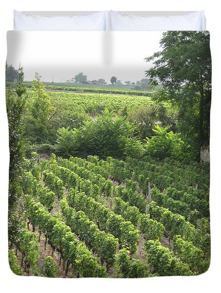 St. Emilion Vineyard Duvet Cover