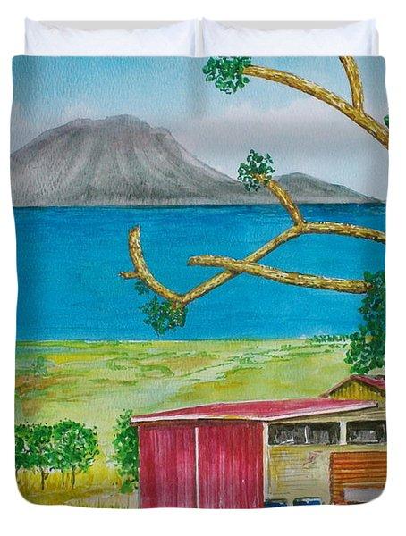 St. Eustatis From St. Kitts Duvet Cover