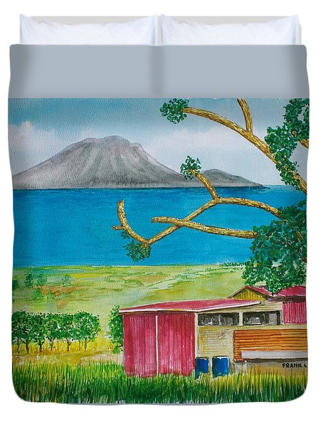 St. Eustatis From St. Kitts Duvet Cover by Frank Hunter