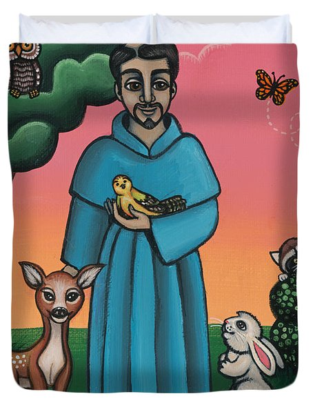 St. Francis Animal Saint Duvet Cover
