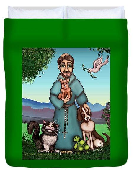 St. Francis Libertys Blessing Duvet Cover