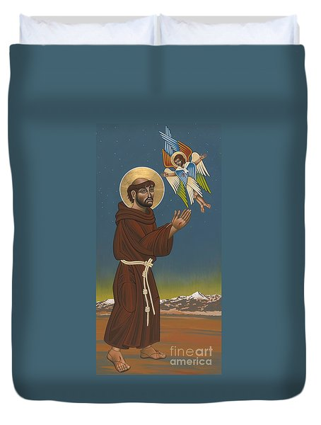Duvet Cover featuring the painting St. Francis Patron Of Colorado 186 by William Hart McNichols