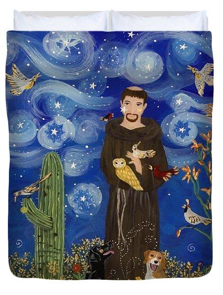 St. Francis Starry Night Duvet Cover