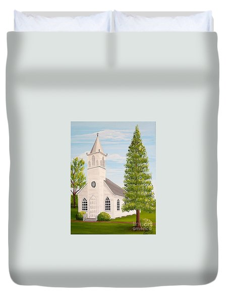 St. Gabriel The Archangel Roman Catholic Church Duvet Cover