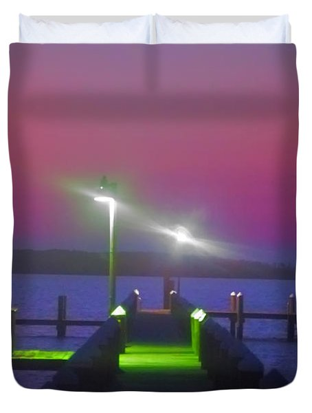 St. Georges Island Dock - Just Before Sunrise Duvet Cover