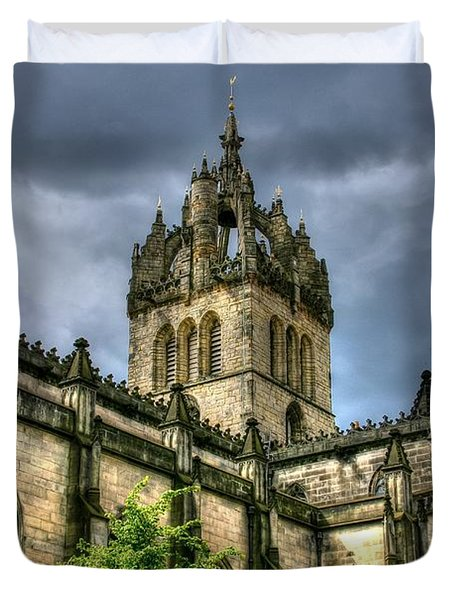 St Giles And Tree Duvet Cover