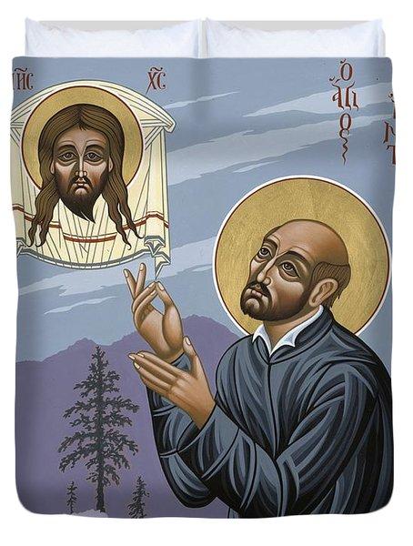 St. Ignatius Amidst Alaska 141 Duvet Cover