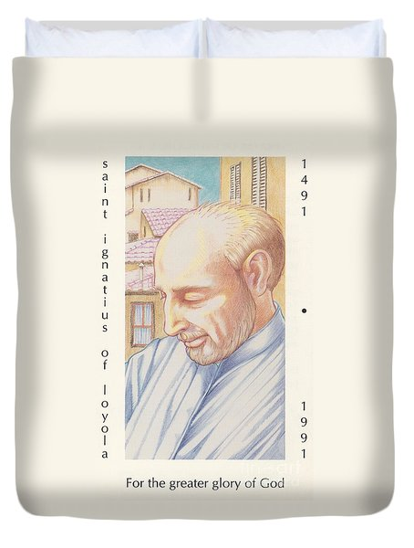 Duvet Cover featuring the painting St. Ignatius At Prayer In Rome by William Hart McNichols