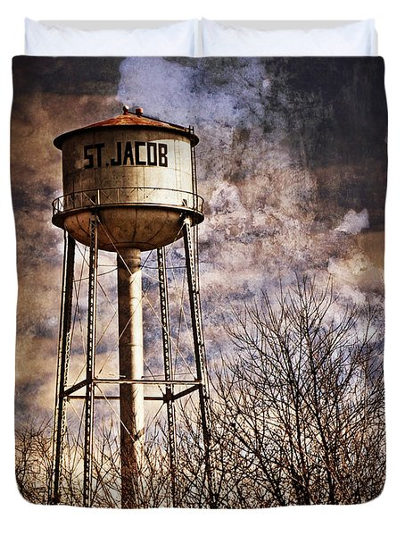 St. Jacob Water Tower 2 Duvet Cover by Marty Koch