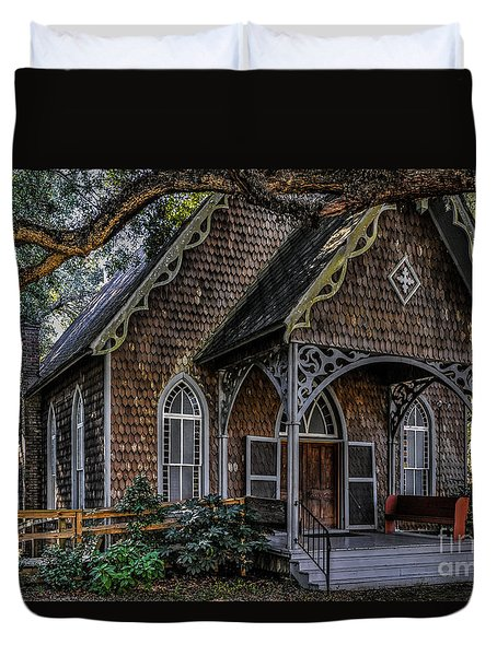 St. James Episcopal Church In Mccellanville Sc Duvet Cover