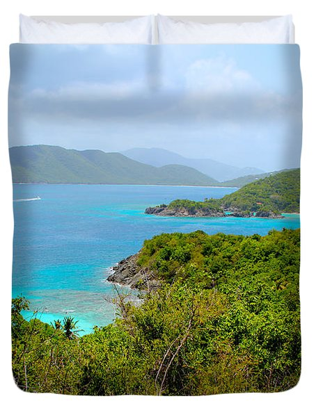 St John Beaches Duvet Cover