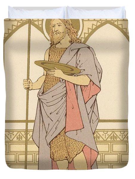 St John The Baptist Duvet Cover by English School