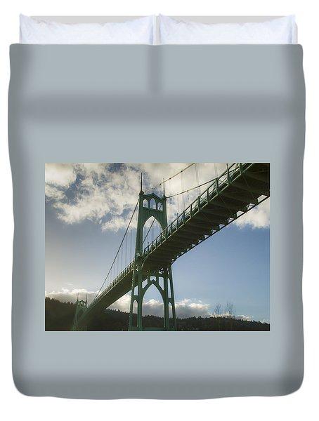 St Johns Bridge Duvet Cover